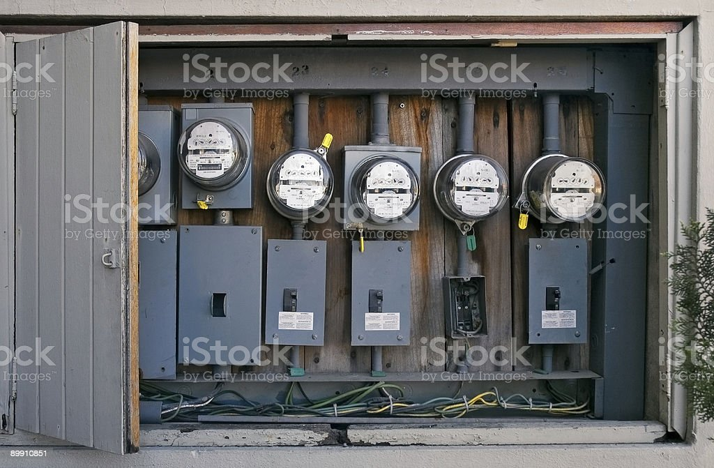 Mexican Power Meters stock photo
