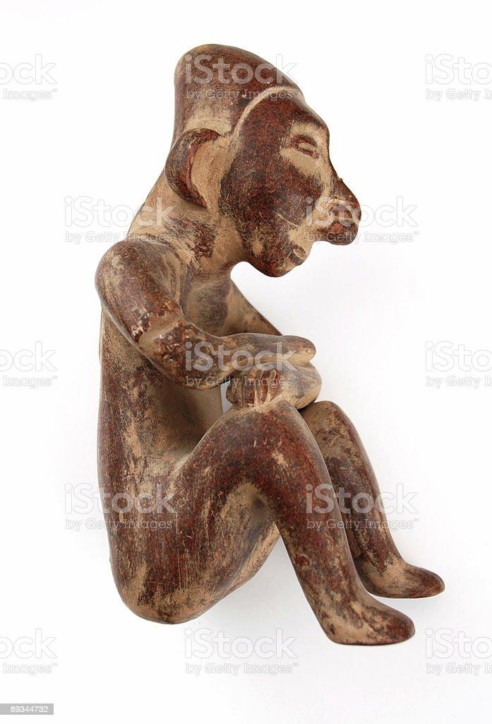 Mexican Pre-Columbian Folk Art Terracotta Figurine royalty-free stock photo