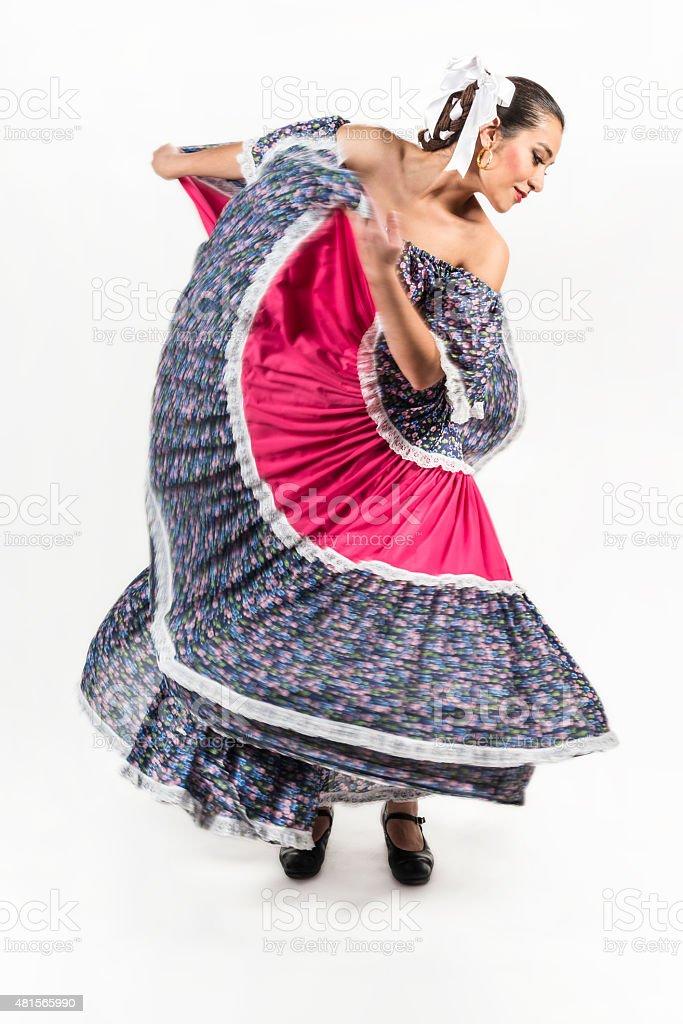 Mexican regional dancing dress stock photo