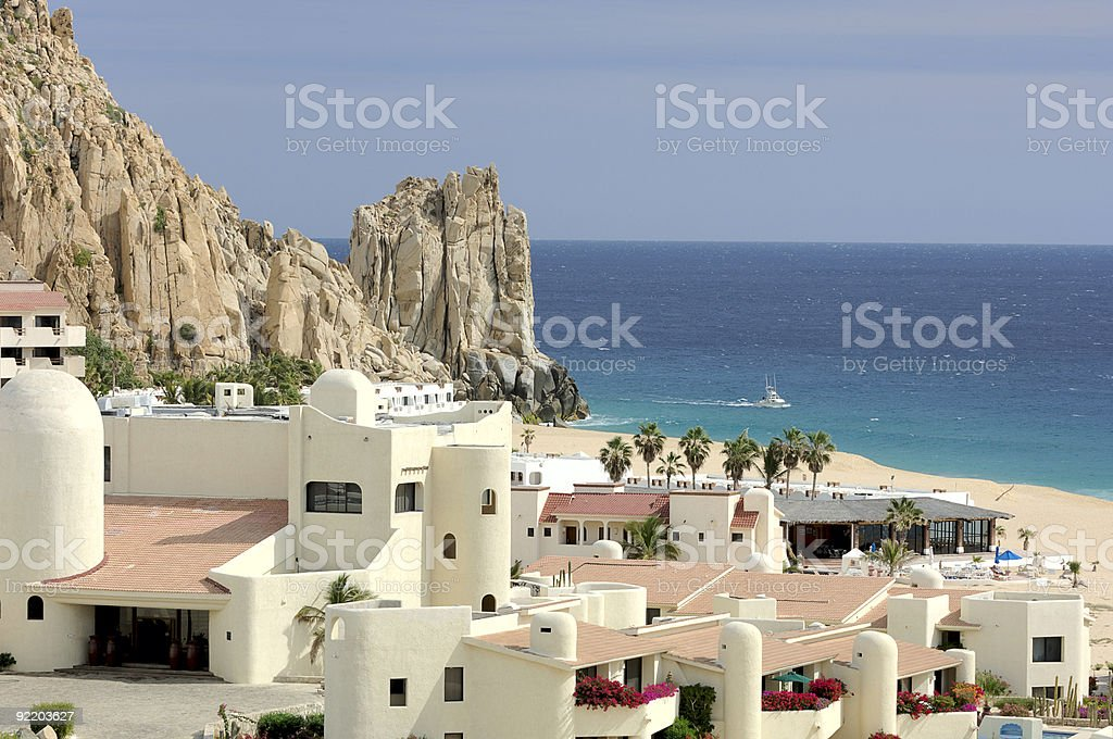 Mexican Resort in Cabo San Lucas, Mexico royalty-free stock photo