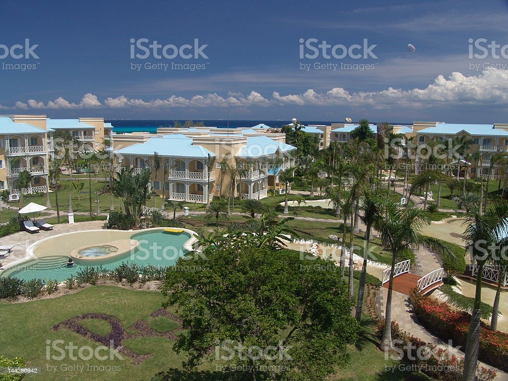 Mexican Resort stock photo