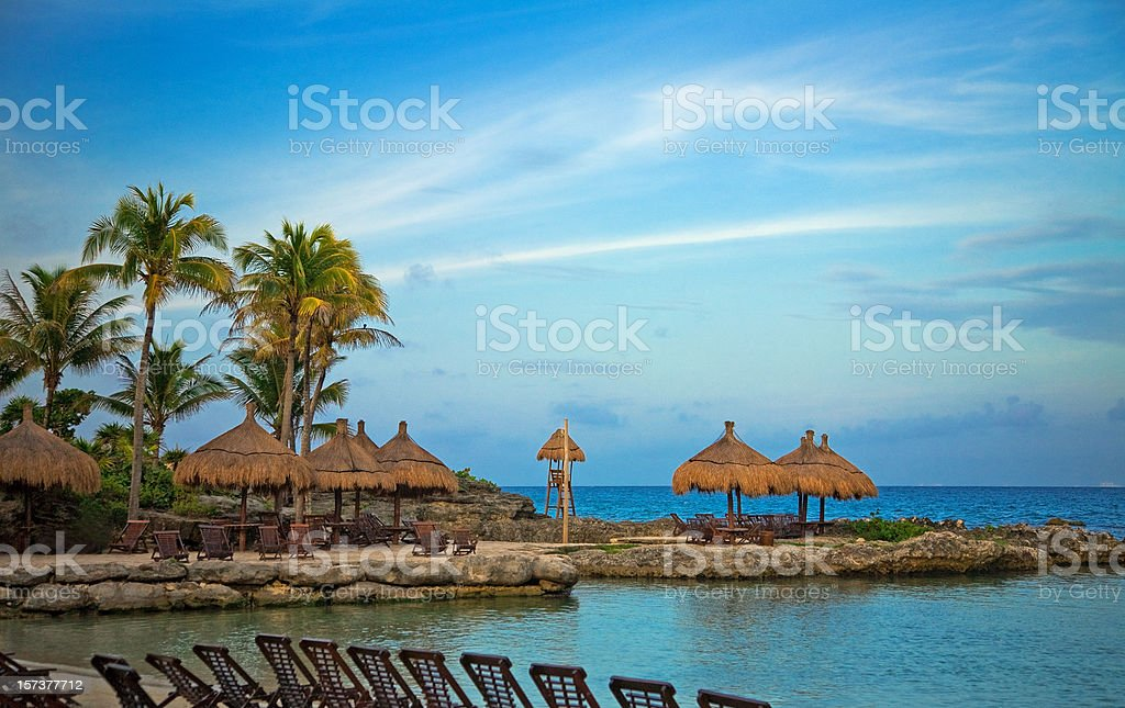 mexican resort stock photo