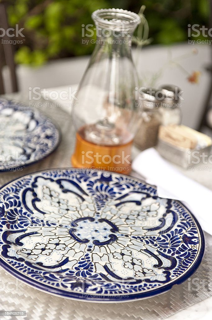 Mexican Restaurant Table set stock photo