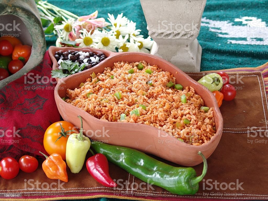 Mexican rice royalty-free stock photo