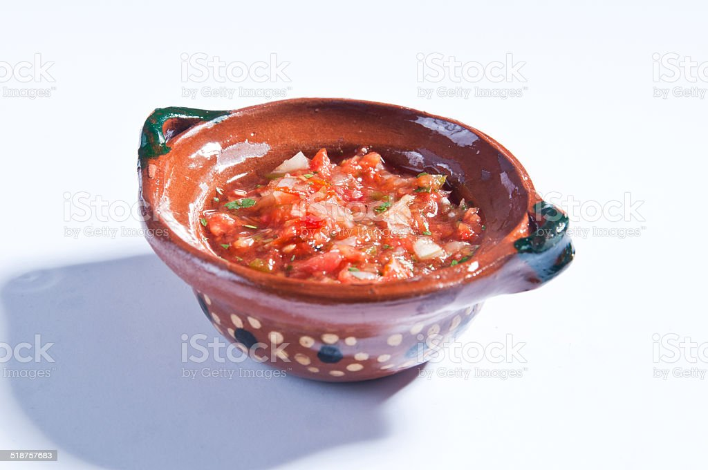 Mexican salsa bowl stock photo