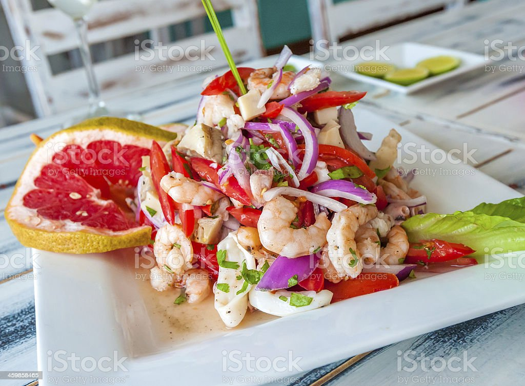 Mexican seafood ceviche stock photo