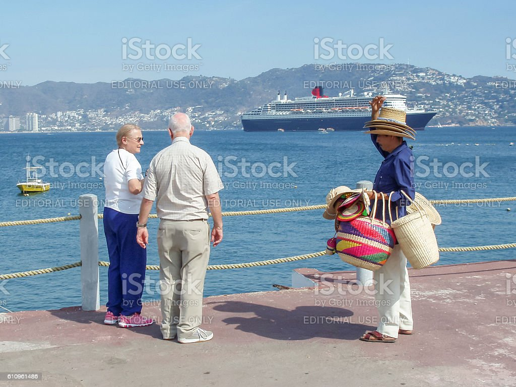 Mexican selling hats stock photo