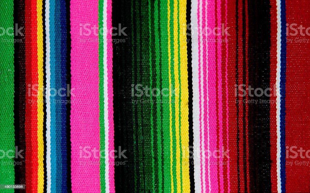 Mexican Serape Blanket, Textile Background stock photo