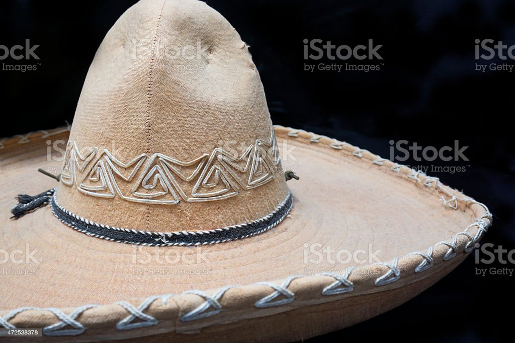Mexican Sombrero hat detail stock photo
