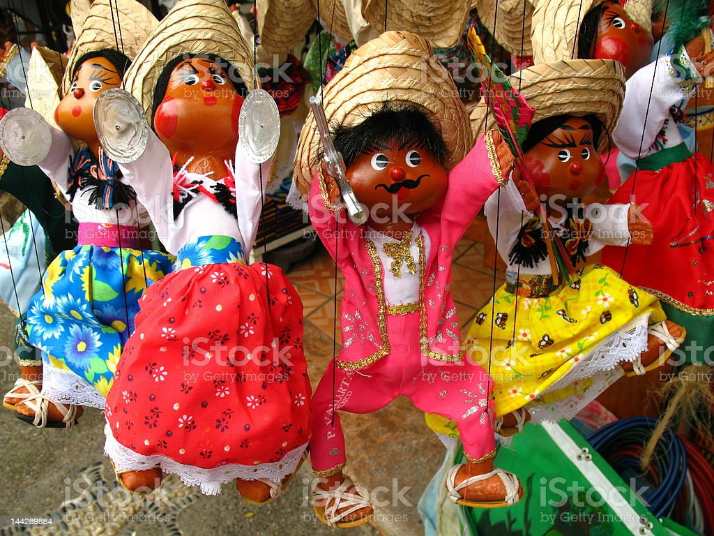 Mexican Souvenir Puppets royalty-free stock photo
