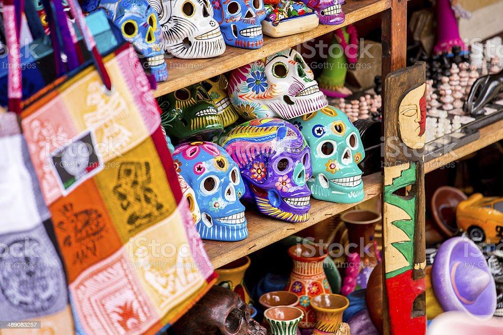 Mexican souvenirs stock photo
