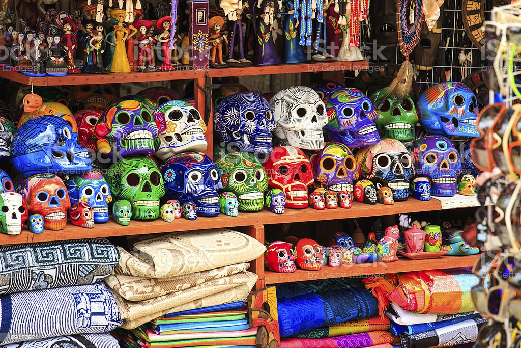 Mexican souvenirs stock photo