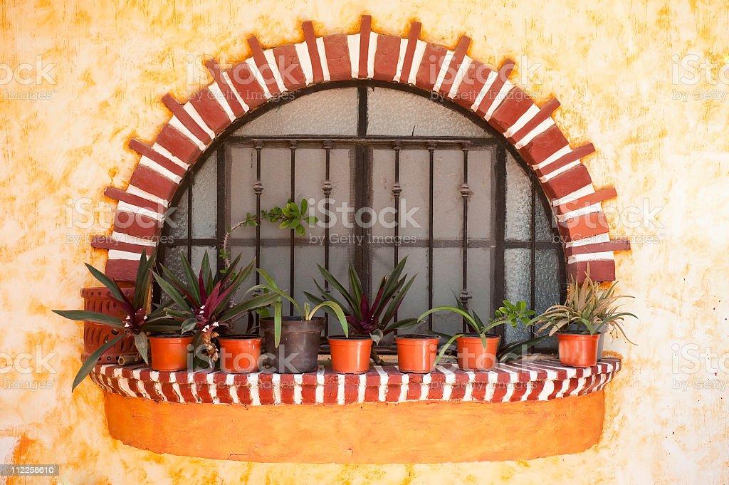 Mexican spanish decorative window royalty-free stock photo