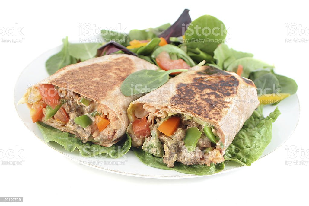 mexican steak burrito royalty-free stock photo