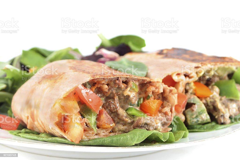 mexican steak burrito stock photo