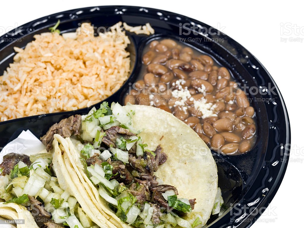 Mexican Steak Taco Lunch royalty-free stock photo