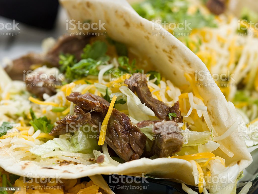 Mexican steak taco royalty-free stock photo