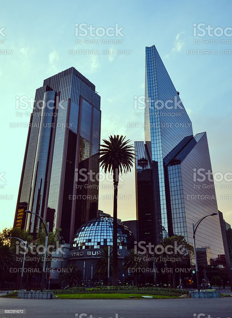 Mexican Stock Exchange building in Mexico city stock photo