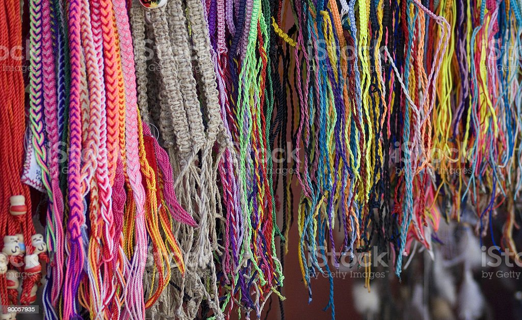 Mexican String Bracelets royalty-free stock photo