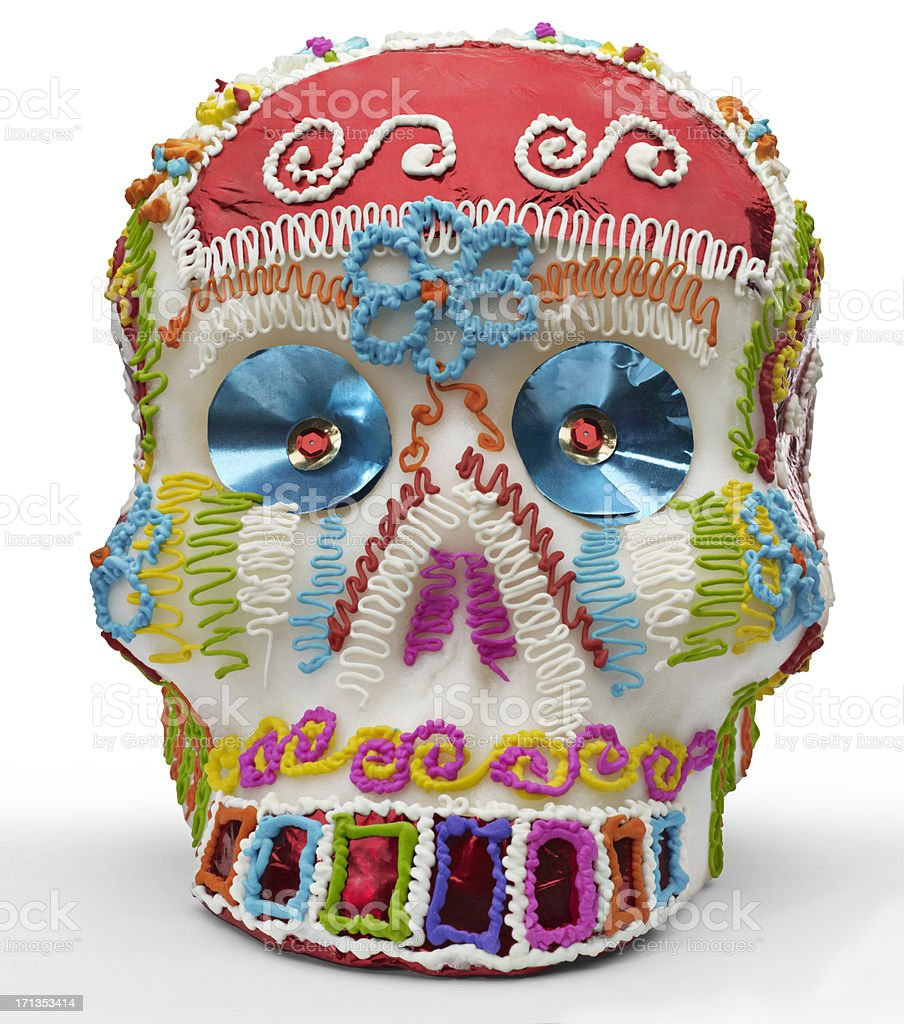 Mexican Sugar Skull stock photo