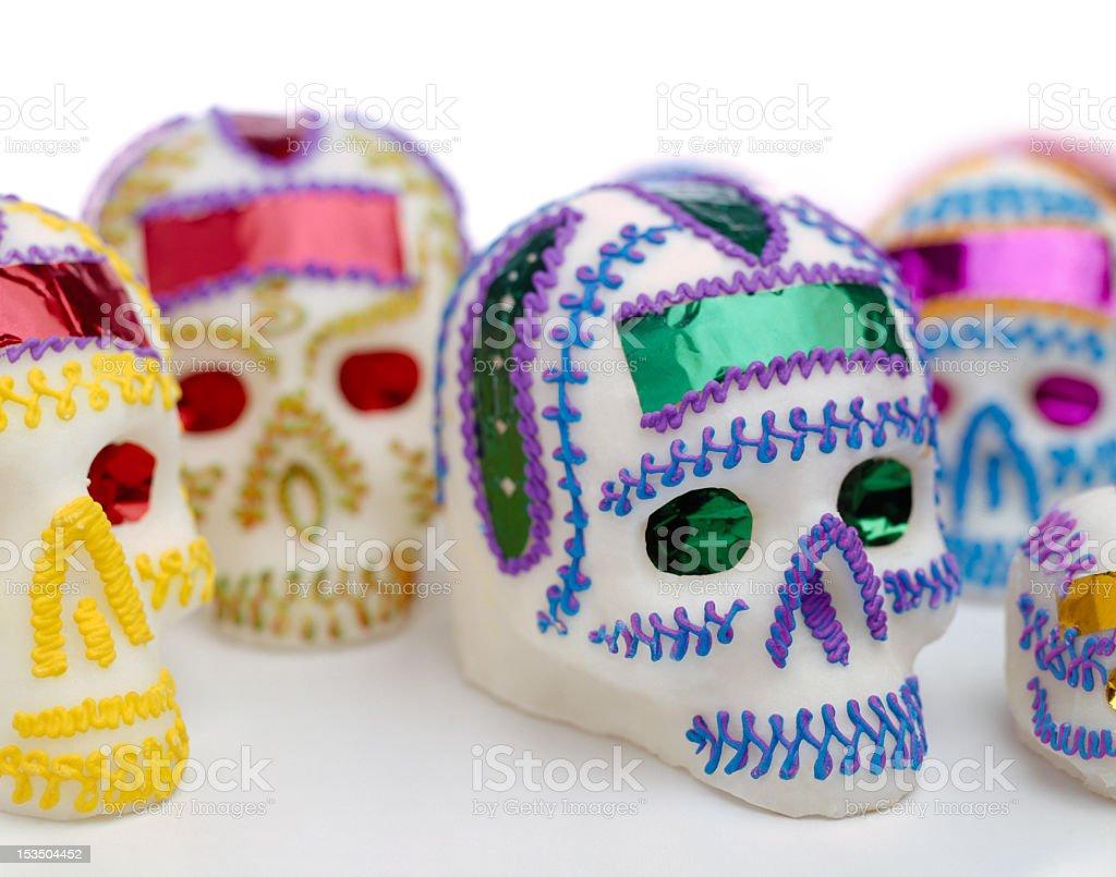 Mexican sugar skulls stock photo