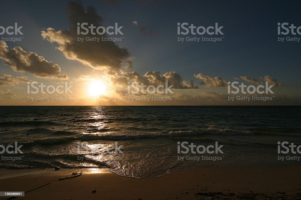 Mexican sunrise royalty-free stock photo