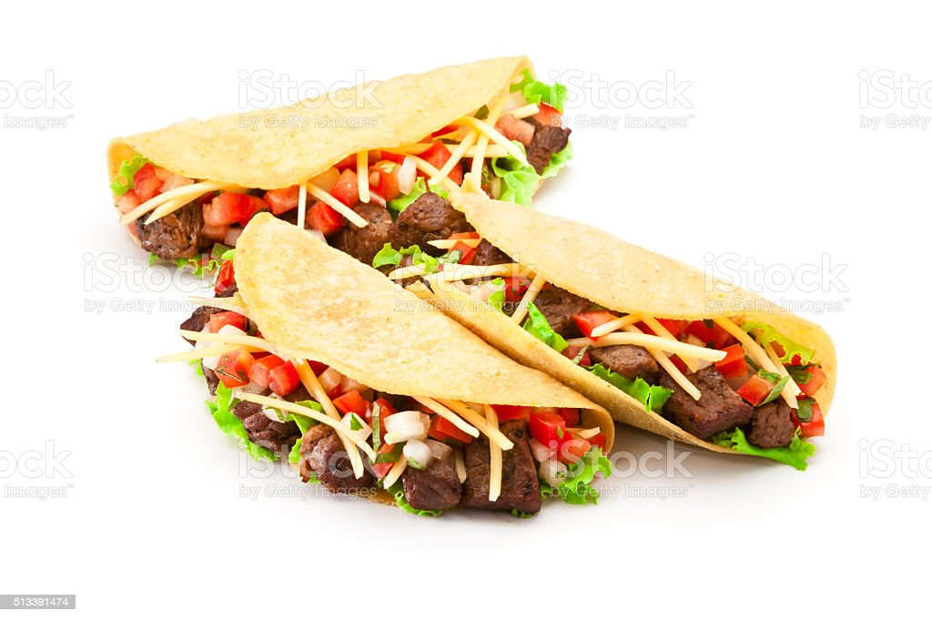 Mexican tacos stock photo