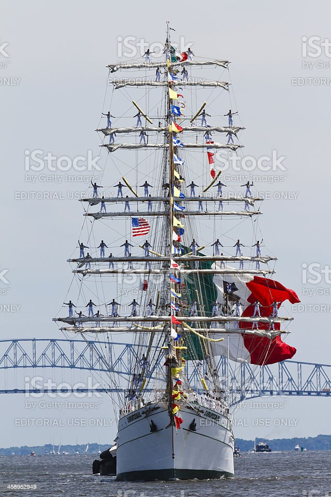 Mexican Tall Ship Cuauhtemoc stock photo
