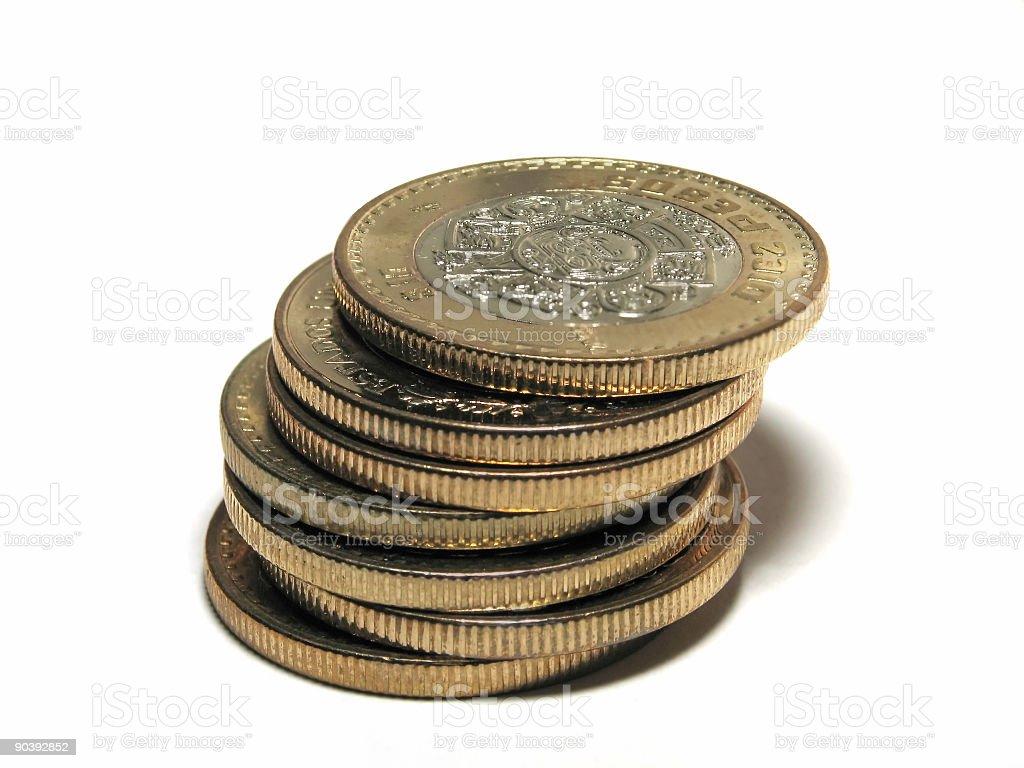 Mexican Ten Peso Coin Pile royalty-free stock photo