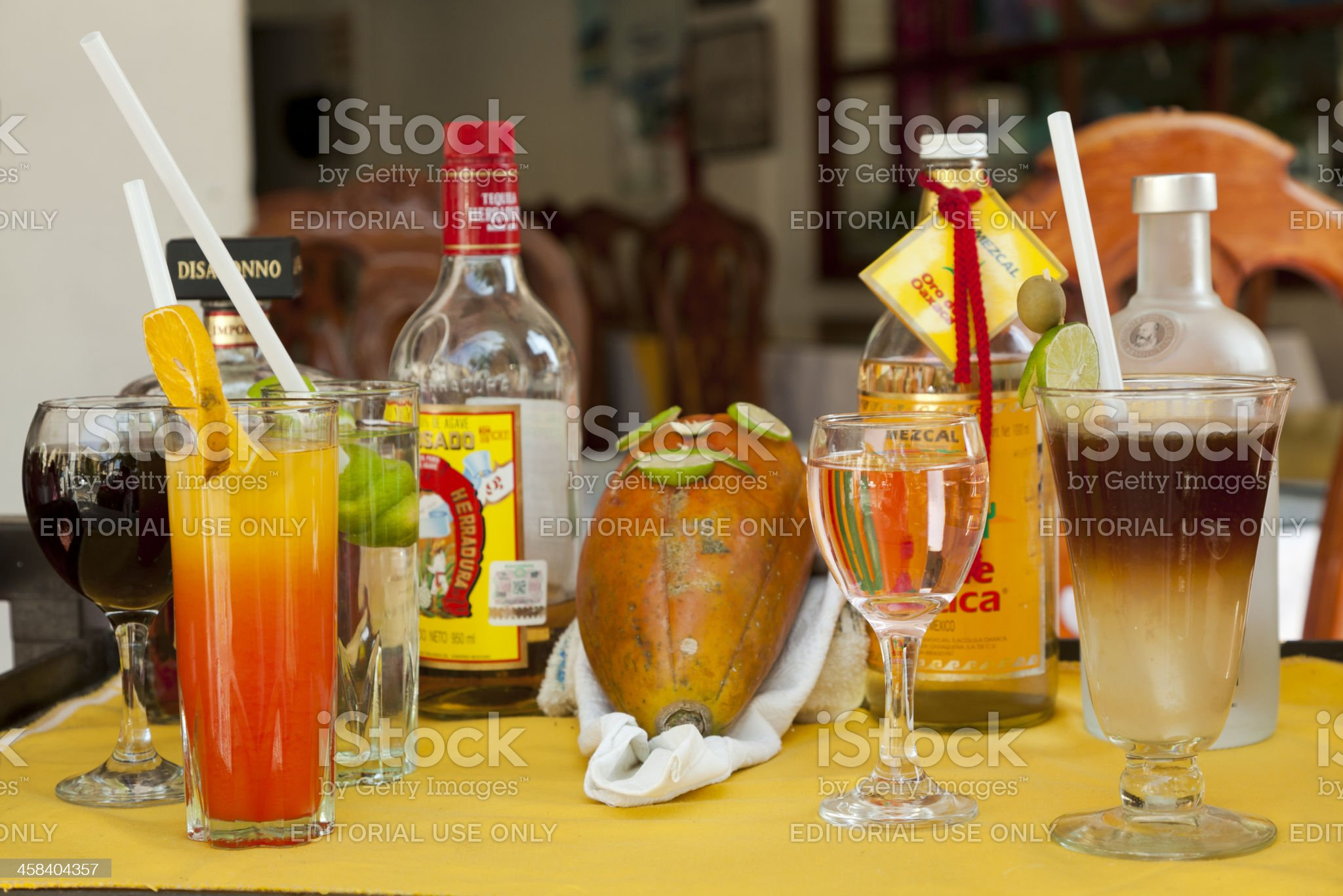 Mexican Tequila Drinks royalty-free stock photo