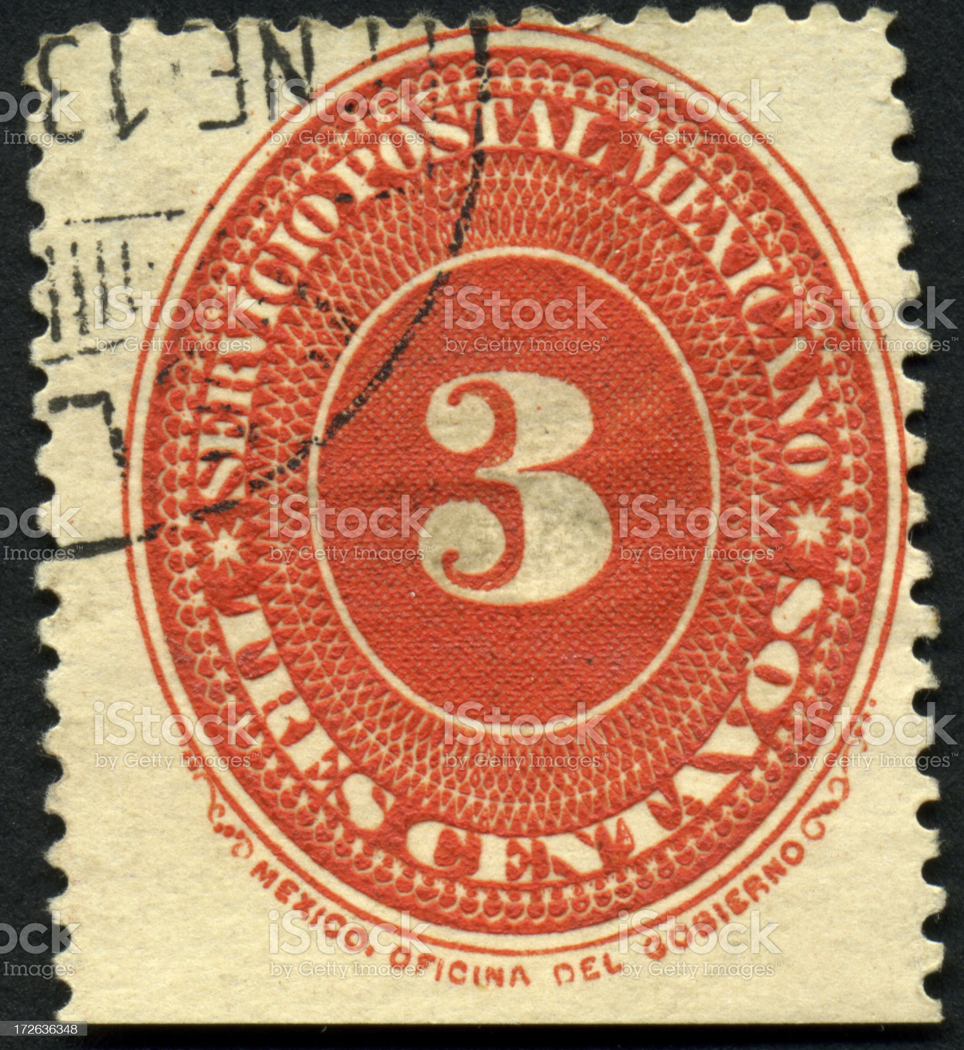 Mexican Tres Centavos royalty-free stock photo