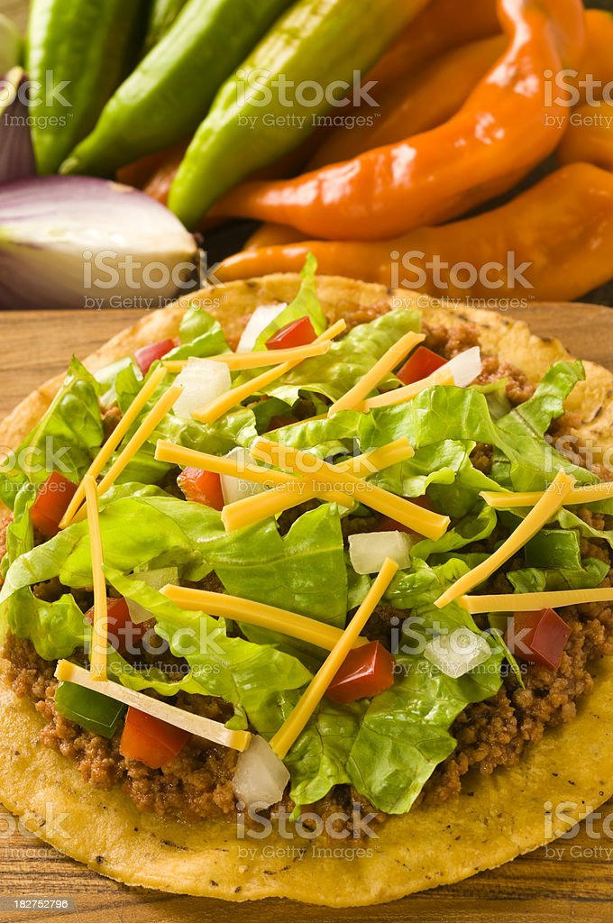 Mexican Tostada stock photo