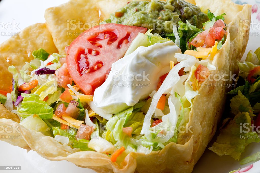 Mexican Tostada Salad royalty-free stock photo