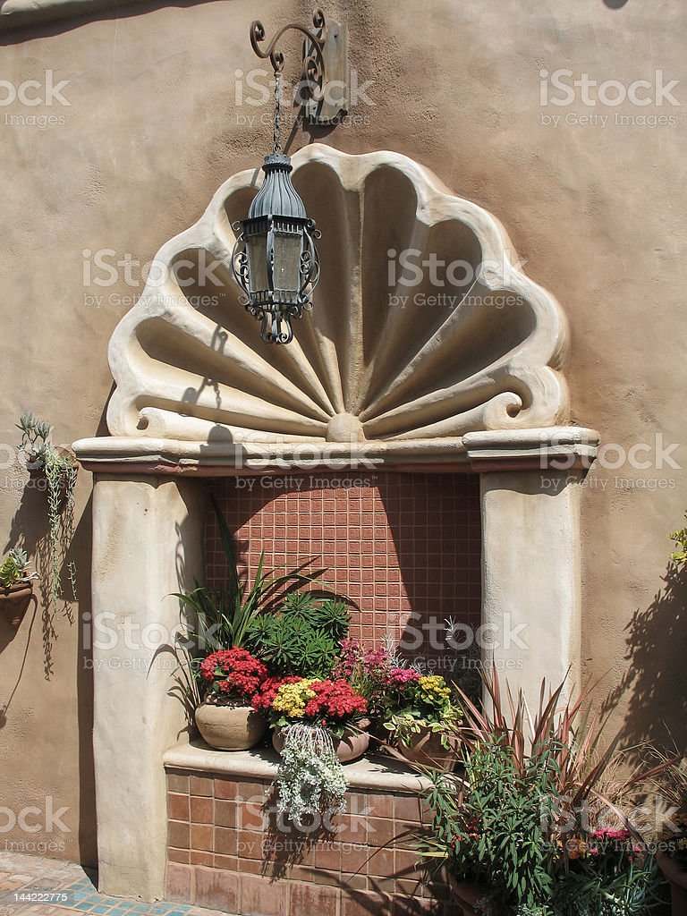 Mexican Wall Niche royalty-free stock photo