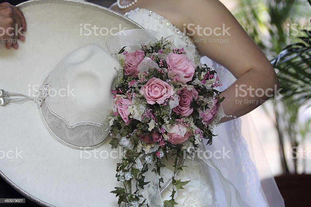 Mexican wedding, charro stock photo