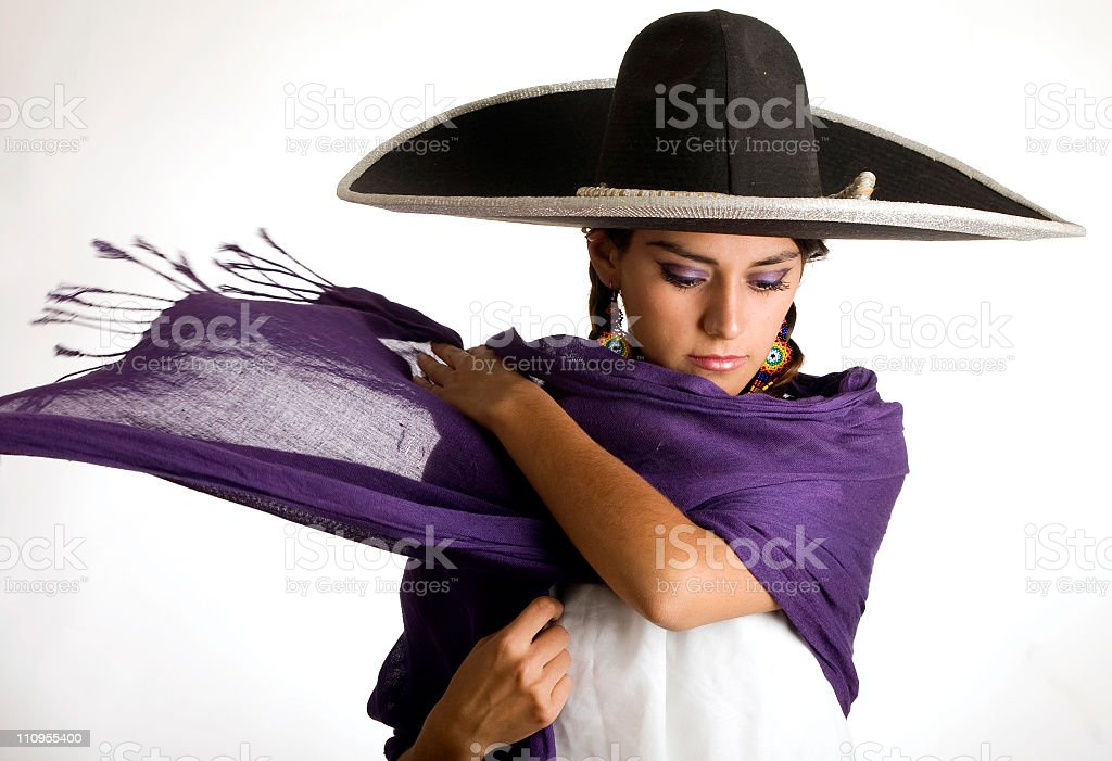Mexican woman stock photo