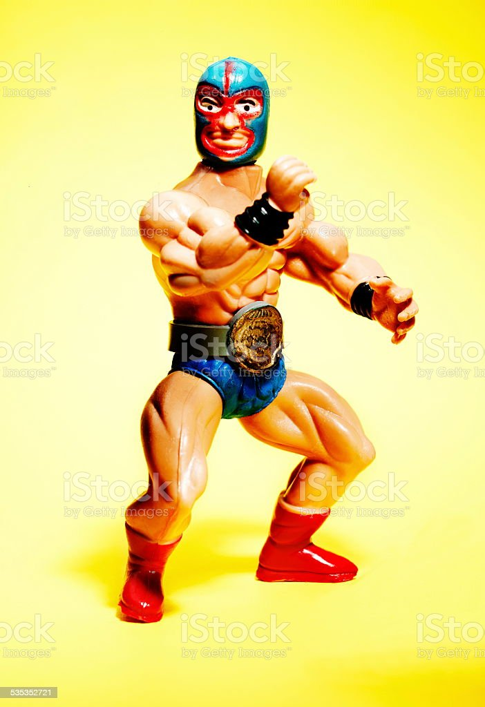 Mexican Wrestler Wearing Mask stock photo