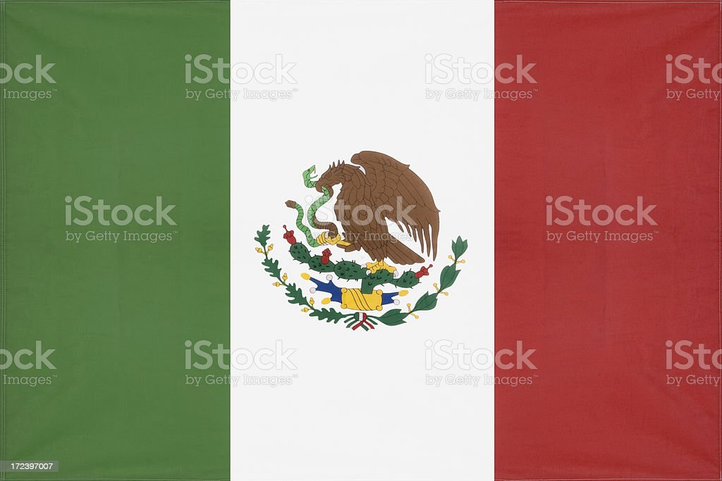 Mexician Flag royalty-free stock photo