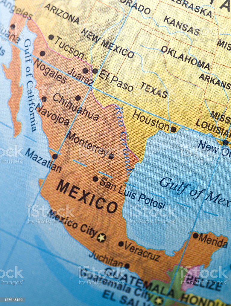 mexico and neighbor countries stock photo