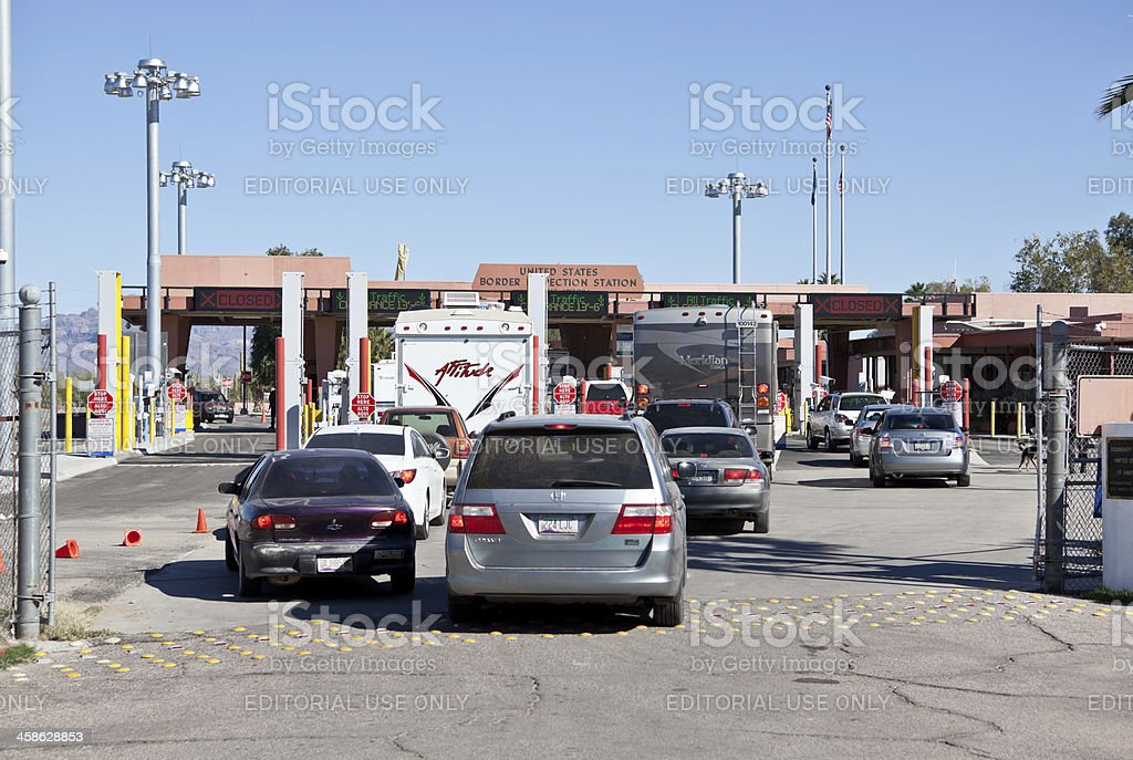Mexico Border at Lukeville Az. royalty-free stock photo