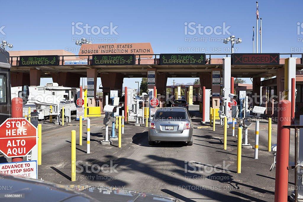 Mexico Border at Lukeville Az. royalty-free stock photo
