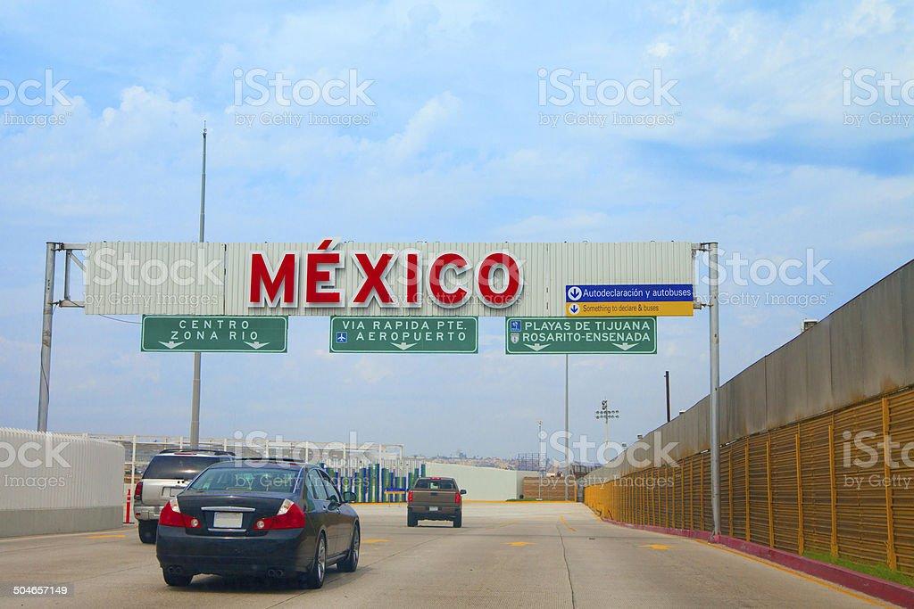 US - Mexico border stock photo