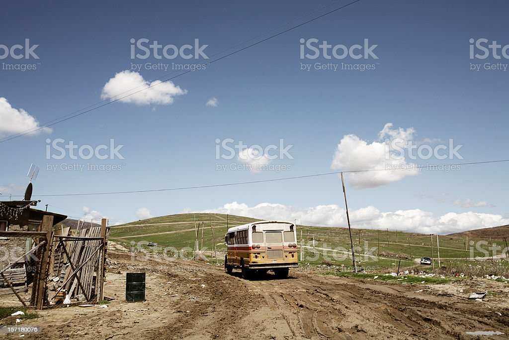 Mexico Bus and Outdoors Portrait royalty-free stock photo