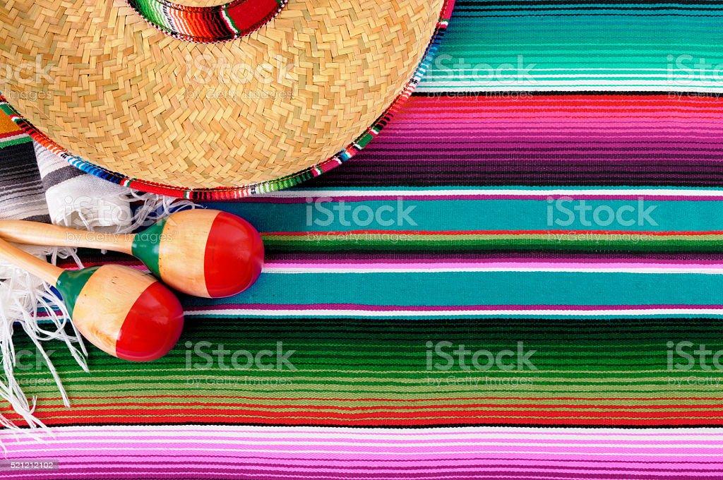 Mexico cinco de mayo background mexican sombrero stock photo