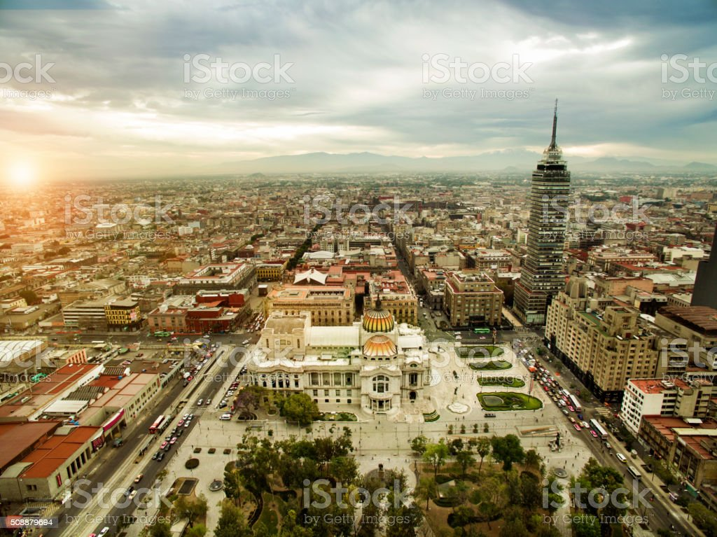Mexico City Aerial stock photo