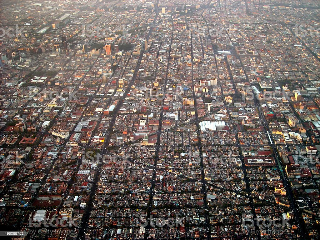 Mexico city aerial view. stock photo