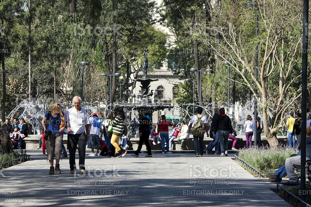 Mexico City Alameda Central royalty-free stock photo