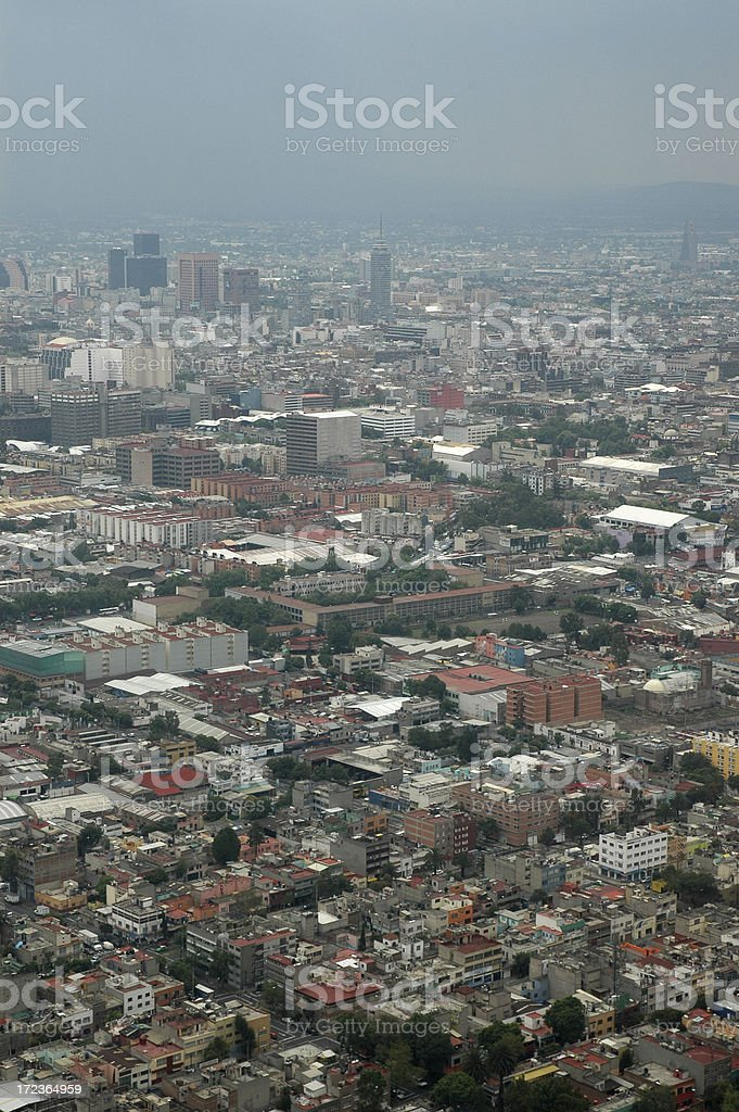 Mexico City Arial View royalty-free stock photo