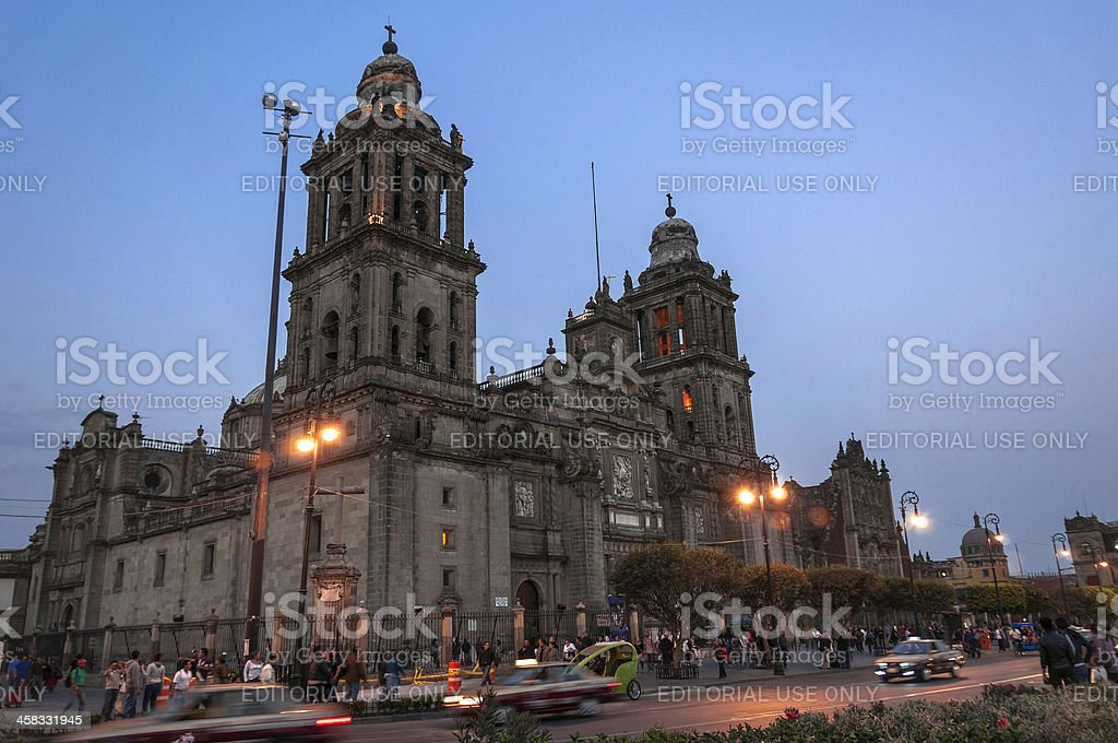 Mexico City Cathedral royalty-free stock photo