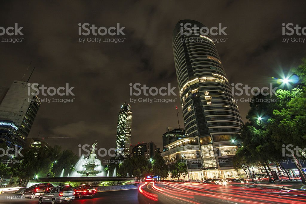 Mexico City downtown stock photo